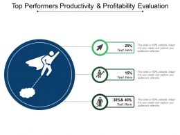 Top Performers Productivity And Profitability Evaluation