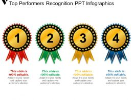 Top Performers Recognition Ppt Infographics