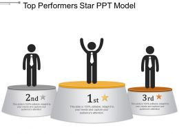 Top Performers Star Ppt Model