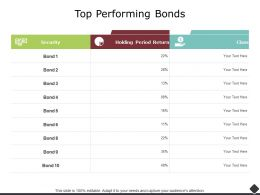 Top Performing Bonds Security Ppt Powerpoint Presentation Icon Show