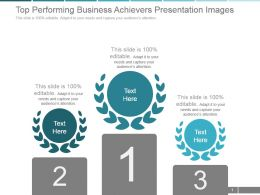 Top Performing Business Achievers Presentation Images