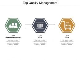 Top Quality Management Ppt Powerpoint Presentation Ideas Infographic Template Cpb