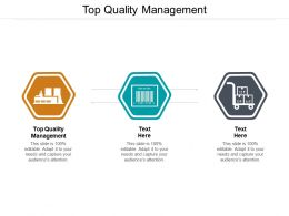 Top Quality Management Ppt Powerpoint Presentation Pictures File Formats Cpb