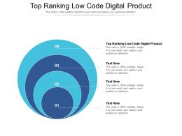 Top Ranking Low Code Digital Product Ppt Powerpoint Presentation Pictures Structure Cpb