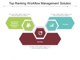 Top Ranking Workflow Management Solution Ppt Powerpoint Presentation Ideas Graphics Template Cpb