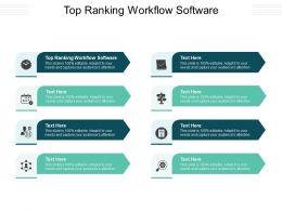 Top Ranking Workflow Software Ppt Powerpoint Presentation Portfolio Demonstration Cpb