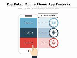 Top Rated Mobile Phone App Features