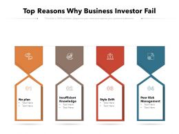 Top Reasons Why Business Investor Fail