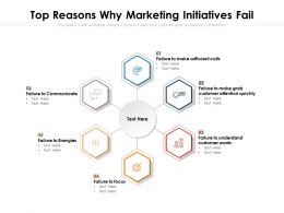 Top Reasons Why Marketing Initiatives Fail