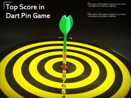 Top Score In Dart Pin Game