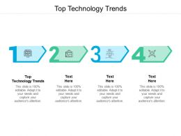 Top Technology Trends Ppt Powerpoint Presentation Pictures Maker Cpb