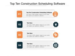 Top Ten Construction Scheduling Software Ppt Show Images Cpb