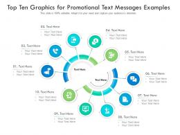 Top Ten Graphics For Promotional Text Messages Examples Infographic Template