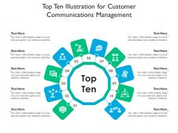 Top Ten Illustration For Customer Communications Management Infographic Template
