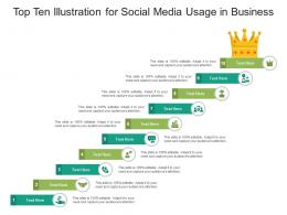 Top Ten Illustration For Social Media Usage In Business Infographic Template