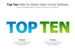 Top Ten Slide For Online Sales Funnel Software Infographic Template