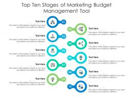Top Ten Stages Of Marketing Budget Management Tool Infographic Template