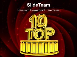 Top Ten Success Podium Powerpoint Templates Ppt Backgrounds For Slides 0213