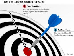 Top Ten Taregt Selection For Sales Image Graphics For Powerpoint