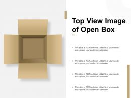 Top View Image Of Open Box