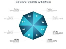 Top View Of Umbrella With 8 Steps