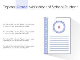 Topper Grade Marksheet Of School Student