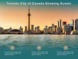 Toronto City Of Canada Showing Sunset