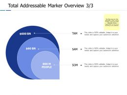 Total Addressable Marker Overview 3 3 Ppt Powerpoint Presentation Gallery Example