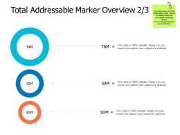 Total Addressable Market Overview Finance A476 Ppt Powerpoint Presentation File Visual Aids