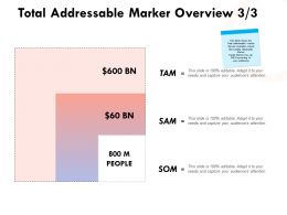 Total Addressable Market Overview Planning Ppt Powerpoint Presentation Infographics Shapes