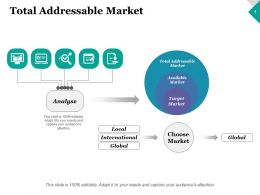Total Addressable Market Analyse Ppt Inspiration Graphics Template