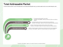 Total Addressable Market Audience Ppt Powerpoint Presentation Layouts Ideas