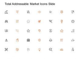Total Addressable Market Icons Slide Arrow Target L199 Ppt Powerpoint Presentation Gallery