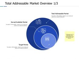 Total Addressable Market Overview 1 3 Ppt Powerpoint Presentation Gallery Guide