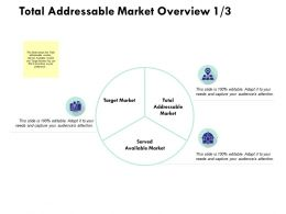 Total Addressable Market Overview Target Market Ppt Powerpoint Presentation
