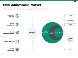 Total Addressable Market Sales Data Ppt Powerpoint Presentation Portfolio Topics