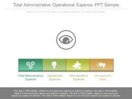 Total Administrative Operational Expense Ppt Sample