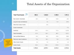 Total Assets Of The Organization Ppt Powerpoint Presentation Icon