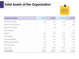 Total Assets Of The Organization Ppt Powerpoint Presentation Ideas Design