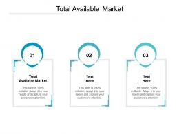 Total Available Market Ppt Powerpoint Presentation Outline Icon Cpb