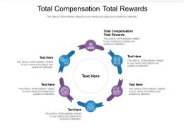 Total Compensation Total Rewards Ppt Powerpoint Presentation Visual Aids Show Cpb
