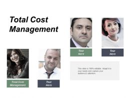 Total Cost Management Ppt Powerpoint Presentation Gallery Microsoft Cpb