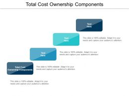 Total Cost Ownership Components Ppt Powerpoint Presentation Show Graphics Template Cpb