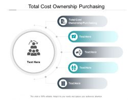 Total Cost Ownership Purchasing Ppt Powerpoint Presentation Professional Cpb