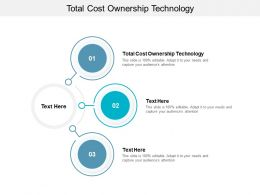 Total Cost Ownership Technology Ppt Powerpoint Presentation Show Cpb