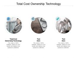 Total Cost Ownership Technology Ppt Powerpoint Presentation Slides Aids Cpb