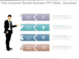 Total Customer Benefit Business Ppt Slides Download