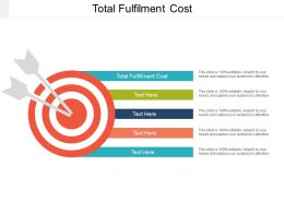 Total Fulfilment Cost Ppt Powerpoint Presentation Ideas Inspiration Cpb