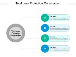 Total Loss Protection Construction Ppt Powerpoint Presentation Design Ideas Cpb