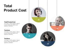 Total Product Cost Ppt Powerpoint Presentation Ideas Pictures Cpb